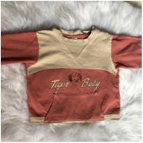 Blusa com marca de uso - 18 meses - Tigor T.  Tigre
