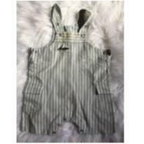Jardineira macacão cinza - 6 a 9 meses - Baby fashion