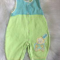 lindo macacão verde bebê 03 meses - 3 a 6 meses - Sem marca