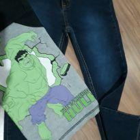 Conjunto calça jeans e camisa Hulk - 6 anos - marisa