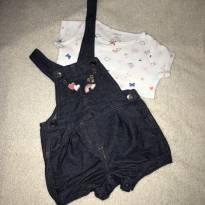 Jardineira + blusinha da CARTERS - 6 meses - 6 meses - Carter`s