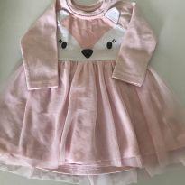 Vestido com orelhinhas - 3 a 6 meses - Bambini