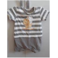 Macacão curto bordado - 3 a 6 meses - Baby Classic