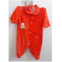 Macacão plush laranja - 3 a 6 meses - LUIZINHO BABY