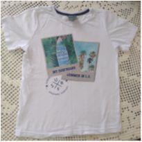 Camiseta branca estampada - 8 anos - CIRCUITO RADICAL
