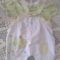 Conjunto jardineira e blusa - 6 meses - Pinotti