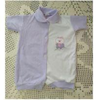 Macacão curto bordado - 3 a 6 meses - DF Kako