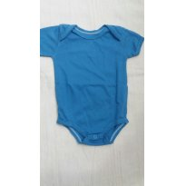 Body Manga Curta Zigmundi Bebê Menino Em Malha  - Cor Azul - Tam 3 a 6 meses - 3 a 6 meses - ZigMundi