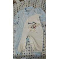 Macacão Longo Bebê Menino Em Plush - Cor Azul - Tam 6 a 9 meses - 6 a 9 meses - ZigMundi
