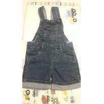 Jardineira Jeans Linda Usada 1 Vez - Tam 2 - 2 anos - Poim