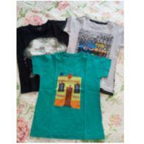 3 camisetas menino tam 3 - 3 anos - Variada