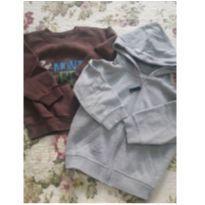 2 casacos de moleton tam 2 - 2 anos - Variada