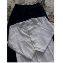 conjunto plush branco e azul marinho tam 2 - 2 anos - Alô bebê