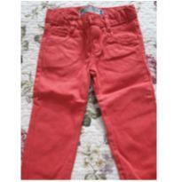calça infantil de sarja vermelha tam 1 a 2 anos - 1 ano - Baby Club