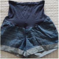 Short jeans gestante - G - 44 - 46 - Indigo Blue