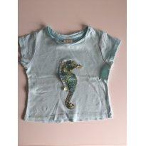 Camiseta Zara Cavalo Marinho - 3 anos - Zara Baby