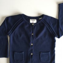 Cardigan Zara Azul Marinho - 2 anos - Zara Baby