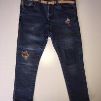 Calça Jeans Zara rasgada - 2 anos - Zara Baby