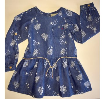 Vestido Zara Manga Longa Jeans - 2 anos - Zara Baby