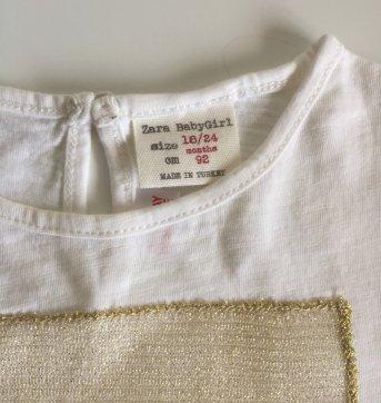 Camiseta Zara ouro - 18 meses - Zara Baby