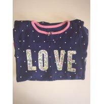 Pijama Carters Macacão Love - 3 anos - Carter`s