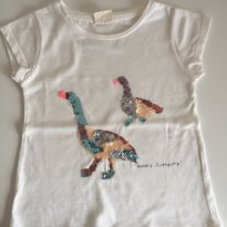 Camiseta Zara Patilhos em paetê - 3 anos - Zara