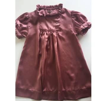 Vestido Mercatore em Seda Rosa Antigo - 3 anos - Mercatore