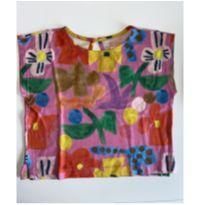 Bata Fábula malha Flores - 6 anos - Fábula