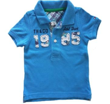 Camiseta Polo piquet azul - Tommy Hilfiger (112) - 3 a 6 meses - Tommy Hilfiger