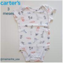 Body todos os bichos carters (001) - 3 meses - Carter`s