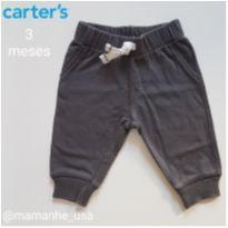 Calça Cinza Escuro - Carters (005) - 3 meses - Carter`s