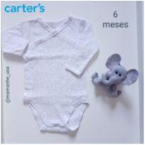 Body neutro manga longa - Carters - 6 meses - Carter`s
