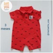 Romper bombeirinho - Carter`s Just One You - 3 meses - Carter`s