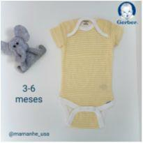 Body Yellow - Gerber (Novo) - 3 a 6 meses - Gerber