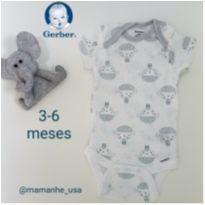 Body NOVO Carneirinhos - Gerber - 3 a 6 meses - Gerber