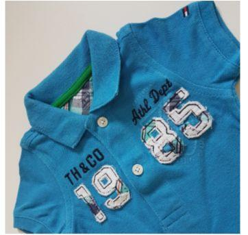 Polo Piquet Tommy - 3 a 6 meses - Tommy Hilfiger