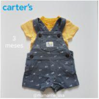 Jardineira Yellow - Carters Just One You - 3 meses - Carter`s