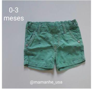 Short Jeans Social - 0 a 3 meses - Alphabeto