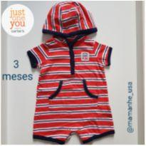 Romper Diversão - Carter`s Just One You - 3 meses - Carter`s