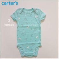 Body borboletas Carters ( Novo ) - 3 meses - Carter`s