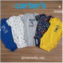 Kit 5 body Food - Carters (novo) - 6 meses - Carter`s