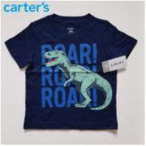 Camiseta T-Rex - Carter`s (Nova) - 18 meses - Carter`s