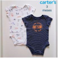 Kit 2 body Animals - Carter`s - 3 meses - Carter`s