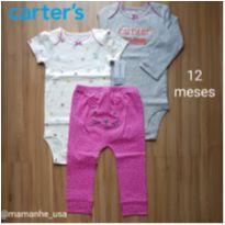 Kit 2 body com calça Gatinha - Carters (106) - 1 ano - Carter`s