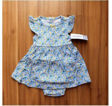 Vestido Flores com Cardigã Carters - 3 meses - Carter`s