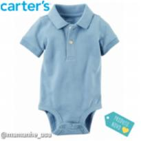 Body Piquet gola Polo Carters 18M - 18 meses - Carter`s