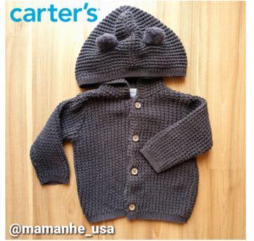 Casaco Seminovo Tricô Carters - 3 meses - Carter`s