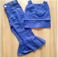 Conjunto Croped e Calça Flare Menina 2 anos - 2 anos - Jeans