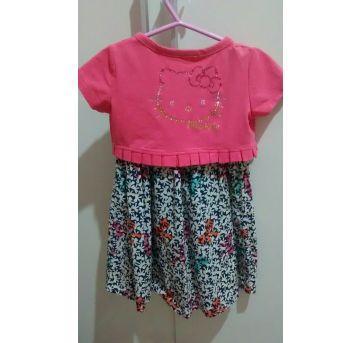 Vestido Hello Kitty - 3 anos - Hello  Kitty