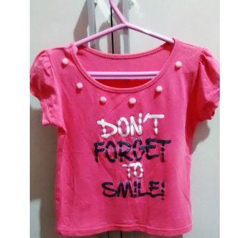 Blusa rosa com pompom - 3 anos - Sem marca